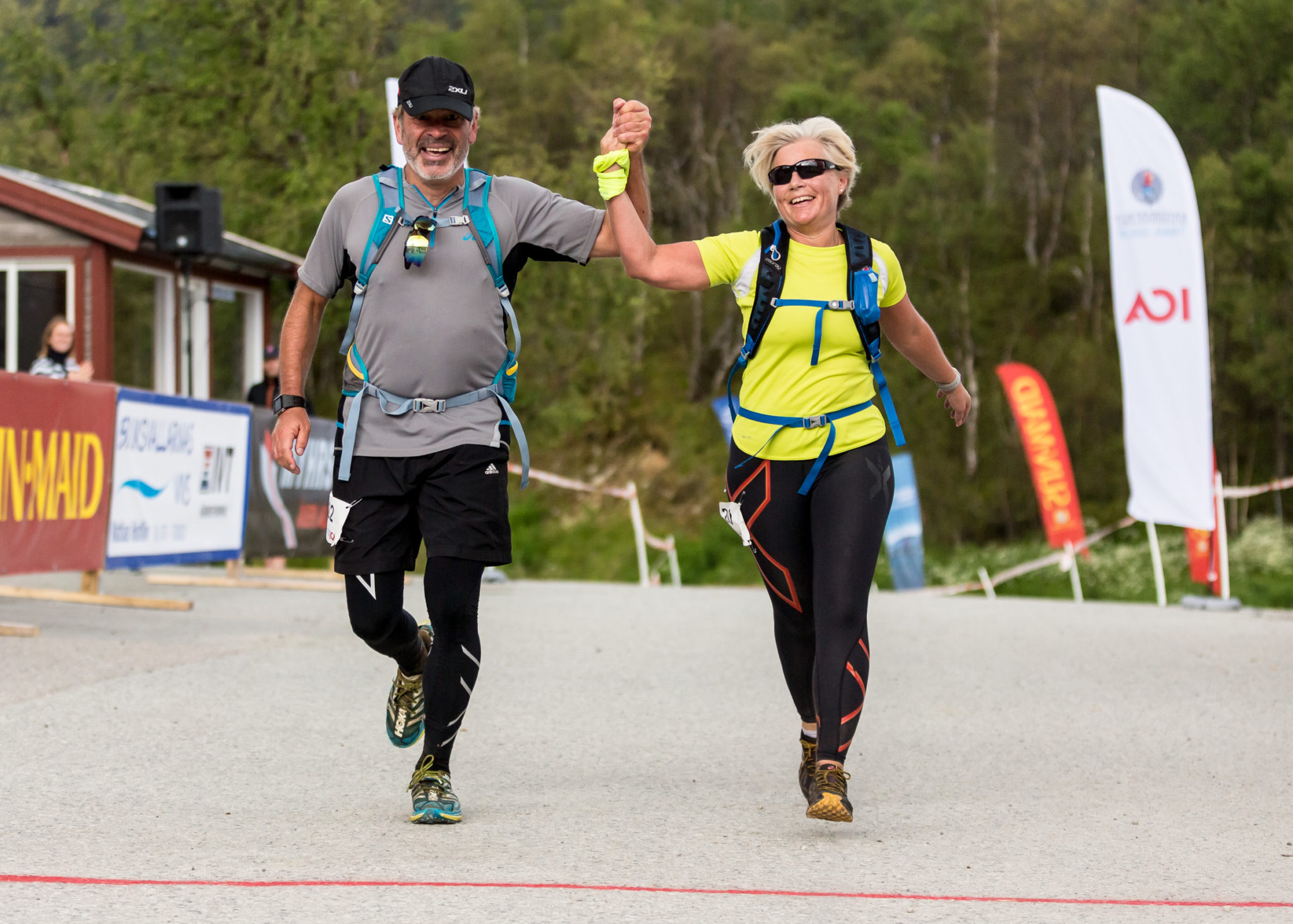 Ramundberget Trail Målgång efter drygt 30 km på fjället