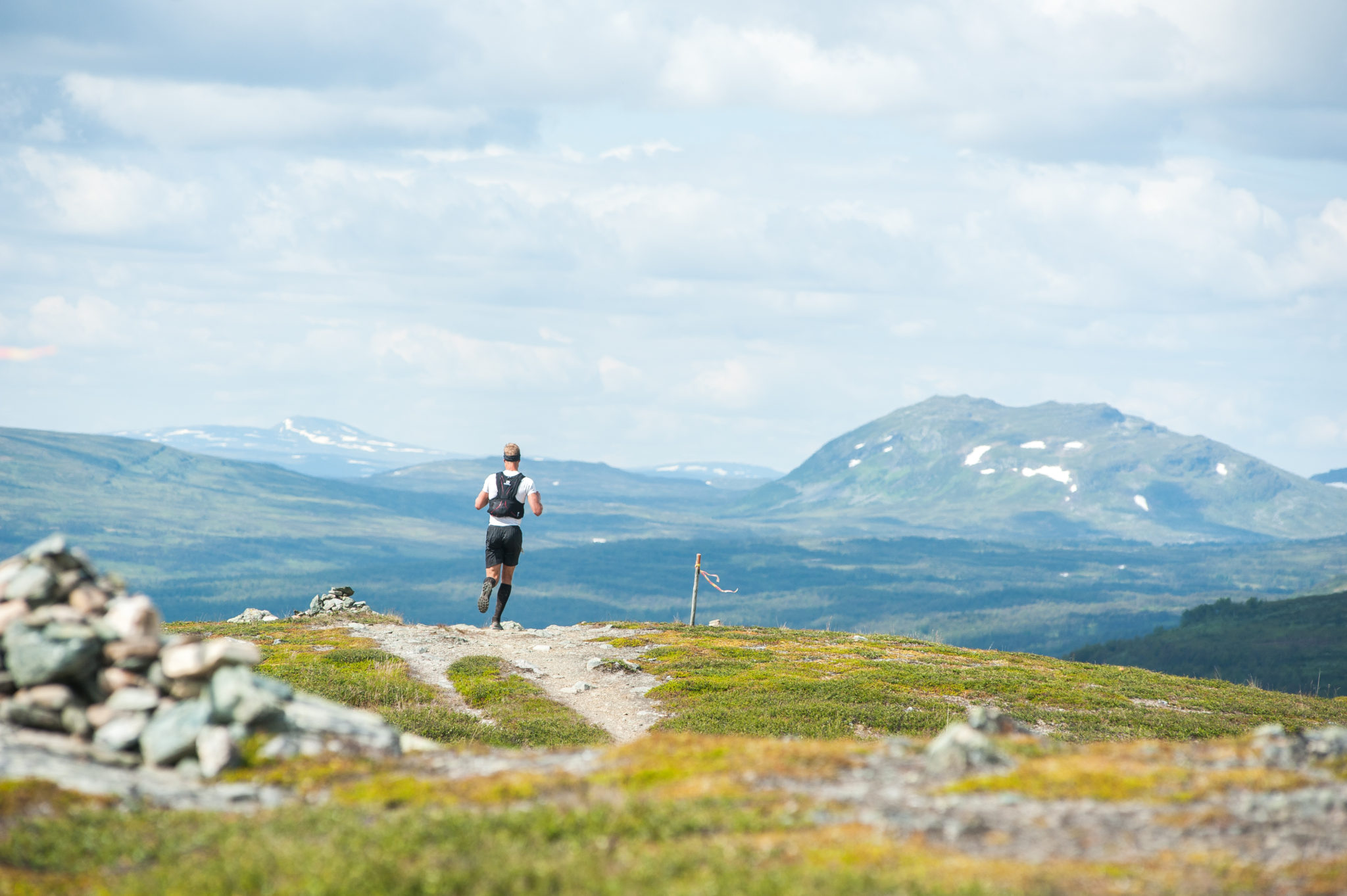 Ramundberget Trail Runner up in the mountains with a great view